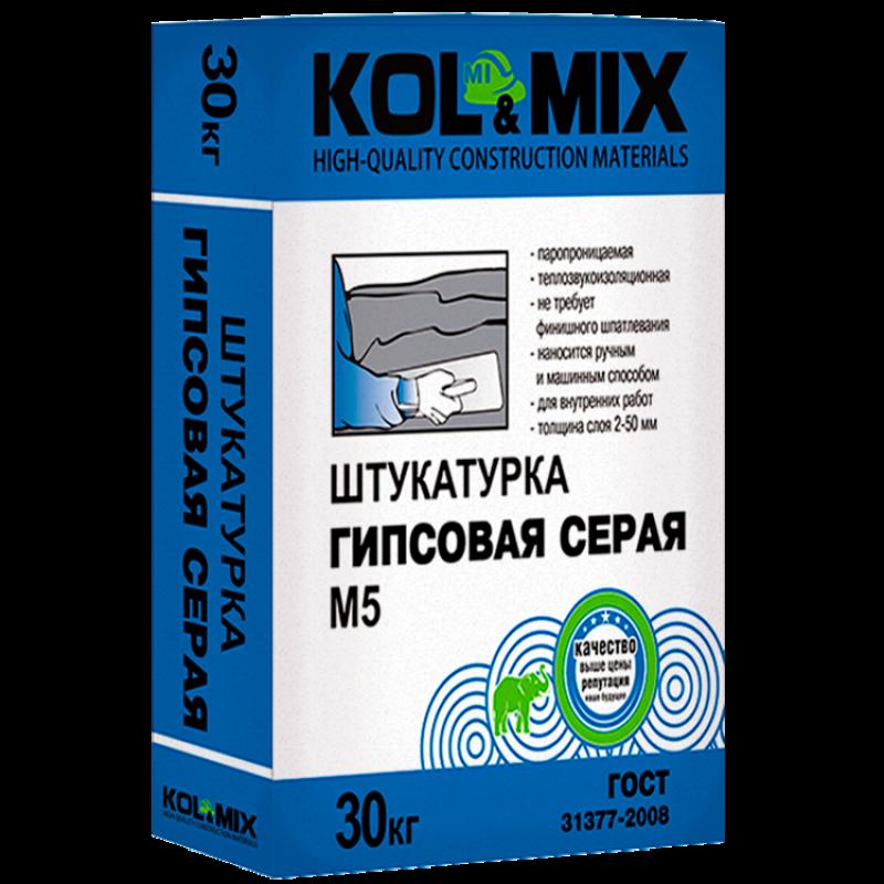 Штукатурка гипсовая М5 Kolmix/Колмикс 30 кг.