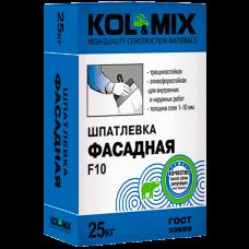 Шпатлевка Фасадная F10, Kolmix/Колмикс  25 кг.